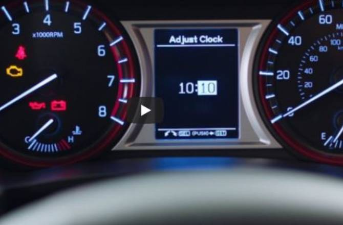 How to Change Your Clock on Your Suzuki Car