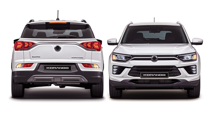 New Korando Front and Back Design