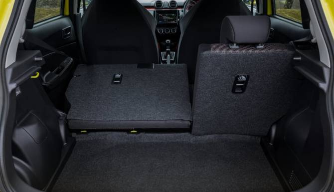 suzuki swift rear folded seats 60/40